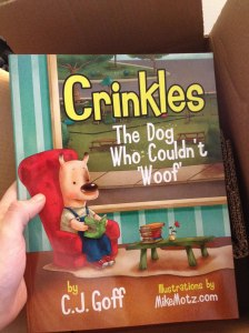 Crinkles The Dog Who Couldn't 'Woof' by C.J. Goff