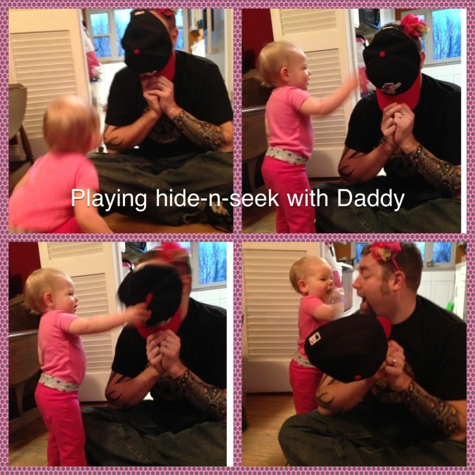 Abbey and Daddy playing
