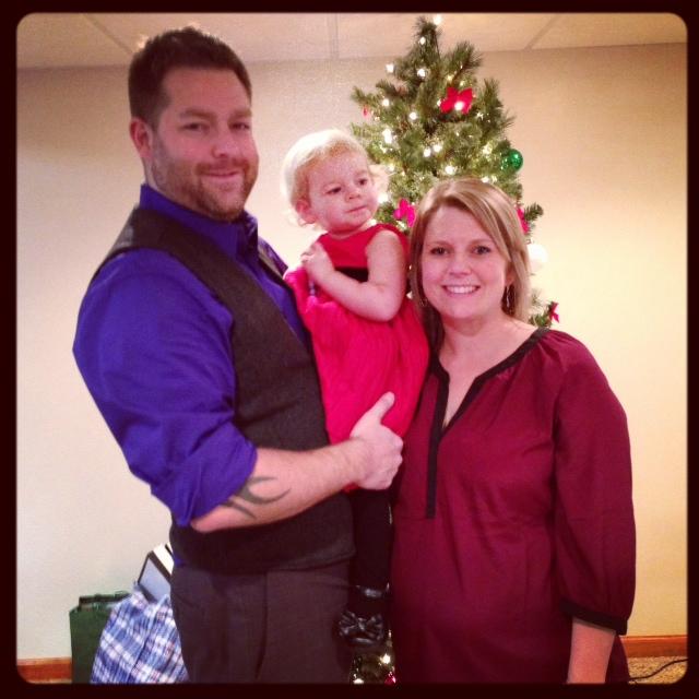 Annual family photo on Christmas Eve