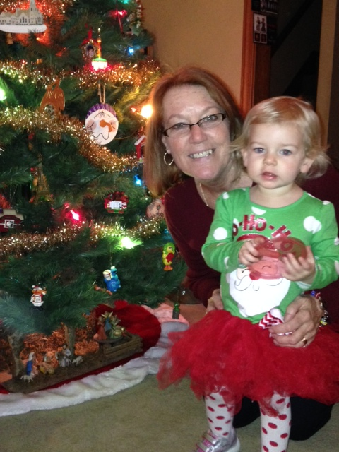 Abbey and her Grandma Herron on Christmas night
