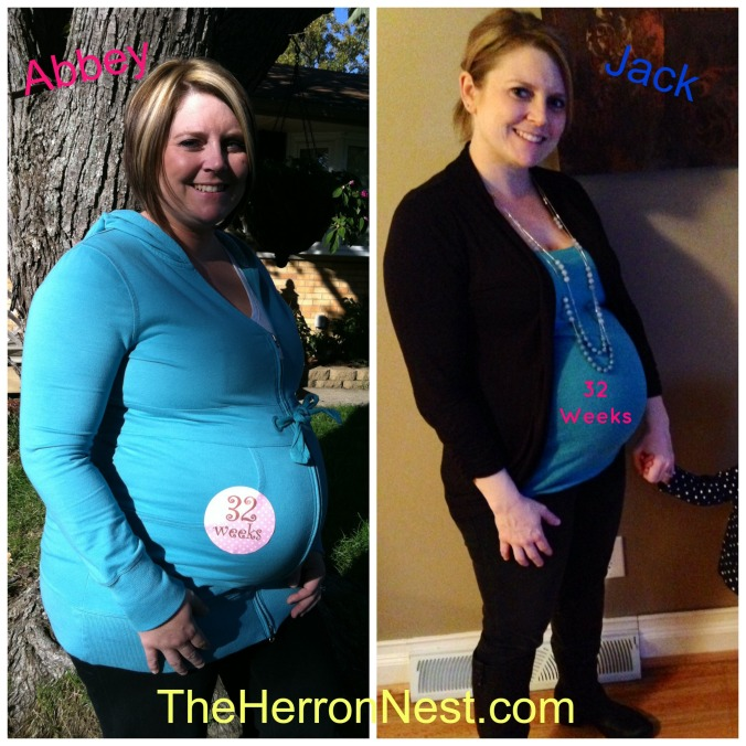 32 Weeks Prego Comparison